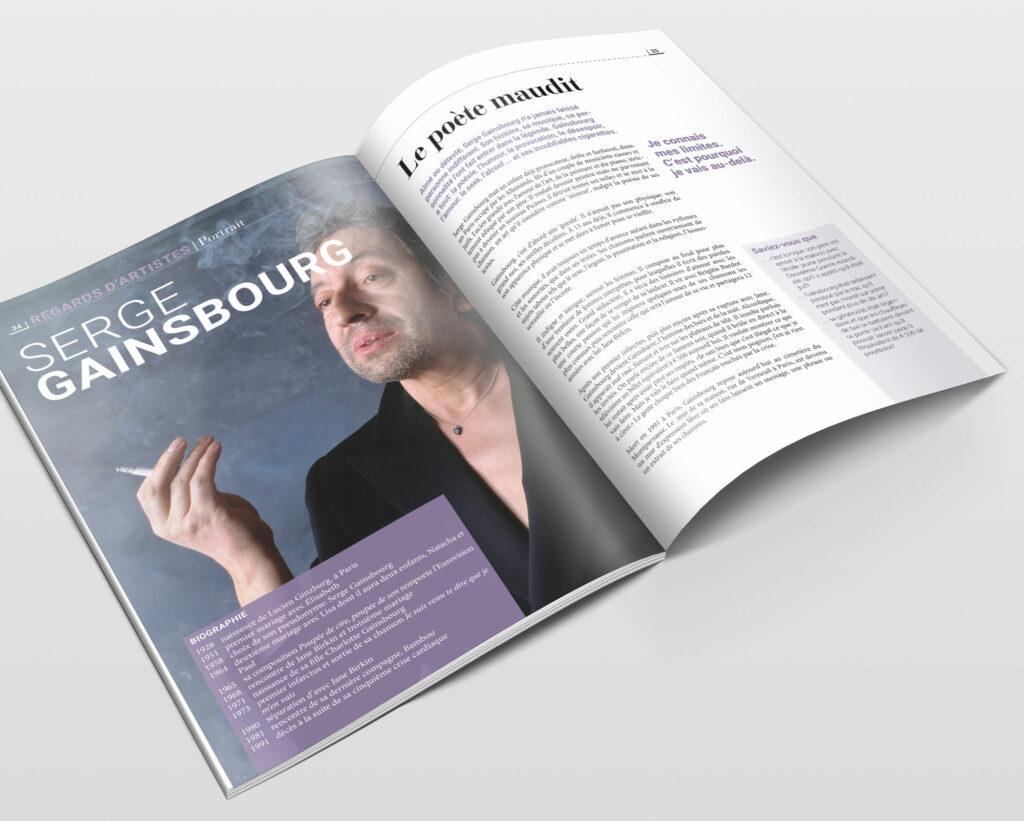 ontwerp en opmaak magazine bij methode Frans